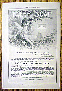 Vintage Ad: 1899 Fairy Soap