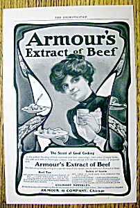 Vintage Ad: 1901 Armour's Extract Of Beef