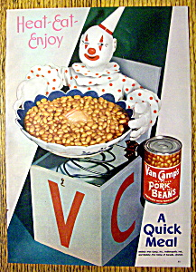 Vintage Ad: 1947 Van Camp Pork and Beans (Image1)