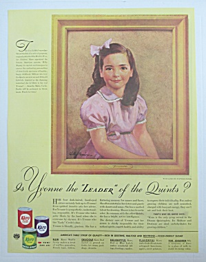 1940 Karo Syrup with Yvonne (One of Dionne Quintuplets) (Image1)