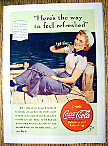 1940 Coca Cola (Coke) with Woman Sailor (Image1)