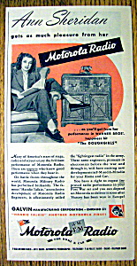 1944 Motorola Radio With Ann Sheridan