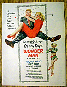 1945 Wonder Man With Danny Kaye & Virginia Mayo