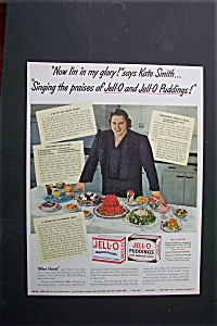 1942 Jell-o Pudding With Kate Smith