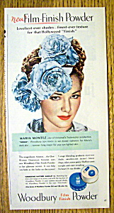 1945 Woodbury Film Finish Powder With Maria Montez