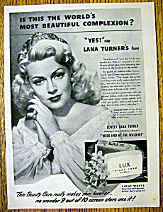 1945 Lux Toilet Soap With Lana Turner