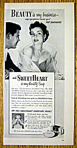 1952 Sweetheart Soap With Cover Girl Pat Barnard