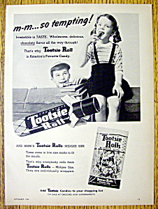 1954 Tootsie Roll Candy