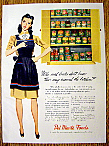 1945 Del Monte Canned Foods