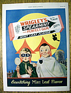 1929 Wrigley's Spearmint Gum (Halloween) w/ Children (Image1)