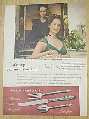 1945 1847 Rogers Bros. Silverplate with Merle Oberon  (Image1)
