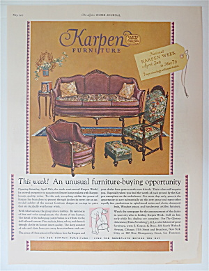 1927 Karpen Furniture With Sofa & 2 Chairs