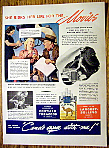 1938 Camel Cigarettes With Stunt Girl Ione Reed