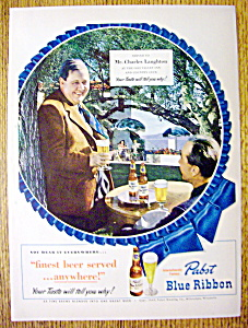 1949 Pabst Blue Ribbon Beer with Charles Laughton (Image1)