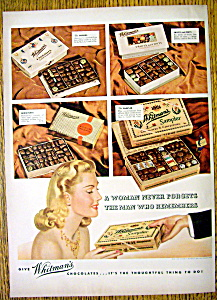 1940 Whitman's Chocolates With Different Chocolates