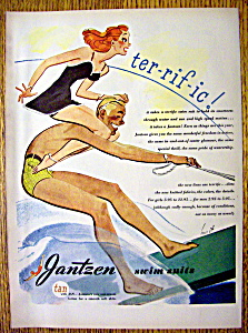 1945 Jantzen Swim Suit w/Woman on Man's Shoulders-Hurst (Image1)