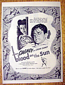 1945 Blood On The Sun With James Cagney & Sylvia Sydney