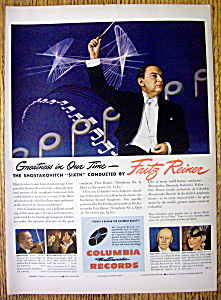 1946 Columbia Records With Fritz Reiner