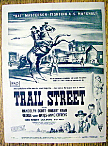 1947 Trail Street With Bat Masterson By Peter Hurd