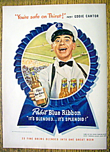1947 Pabst Blue Ribbon Beer with Eddie Cantor (Image1)