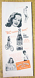 1947 Royal Crown Cola (Rc Cola) With Gene Tierney