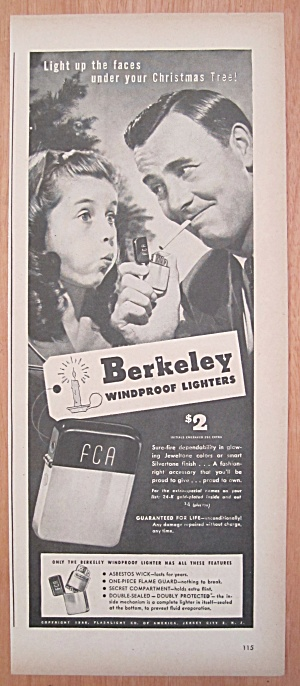 1946 Berkeley Windproof Lighter W/girl Blows At Lighter