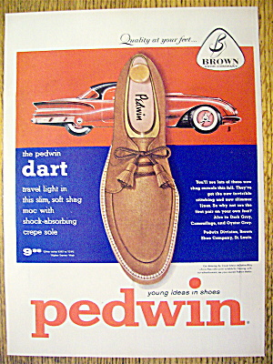 Vintage Ad: 1955 Pedwin Dart Shoes