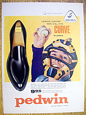 Vintage Ad: 1959 Buster Brown Pedwin Curve Shoes
