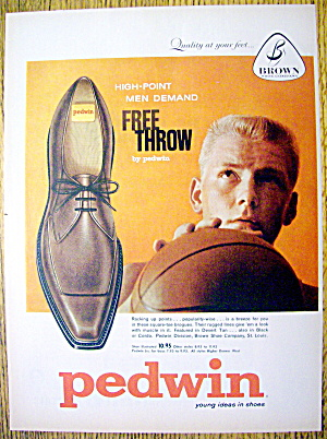 Vintage Ad: 1959 Buster Brown Pedwin Free Throw Shoes