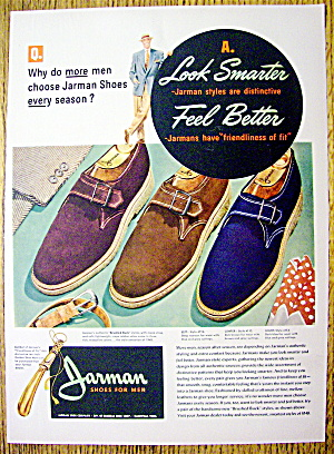 Vintage Ad: 1948 Jarman Shoes For Men (Image1)