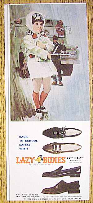 1966 Lazy Bones Shoes w/ Girl Standing & Holding Books (Image1)