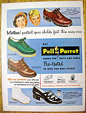 Vintage Ad: 1949 Poll-Parrot Shoes (Image1)
