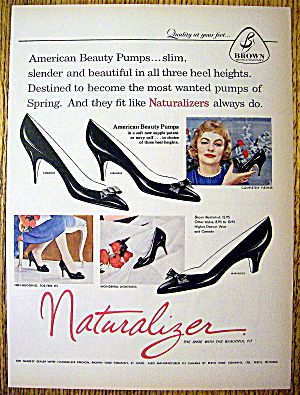 Ad:1959 Naturalizer Shoes (American Beauty Pumps) (Image1)
