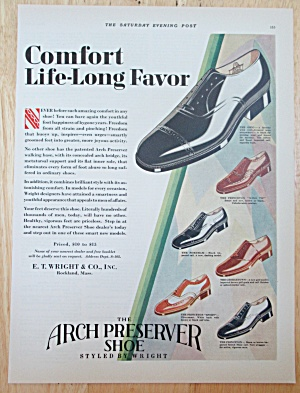 1929 Arch Preserver Shoes w/ Variety of Different Shoes (Image1)