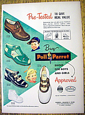 Vintage Ad: 1949 Poll Parrot Shoes For Boys & Girls (Image1)