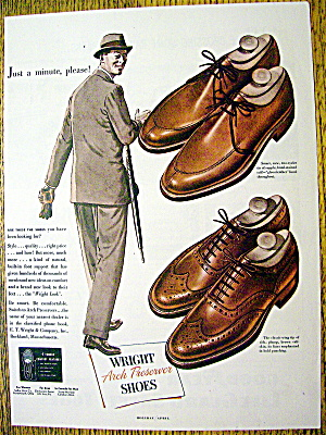 Ad: 1949 Wright Arch Preserver Shoes (Image1)