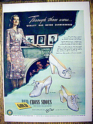 Ad: 1944 Gold Cross Shoes (Image1)