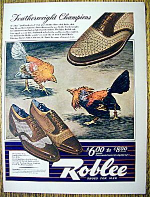 Vintage Ad: 1942 Roblee Shoes for Men (Image1)