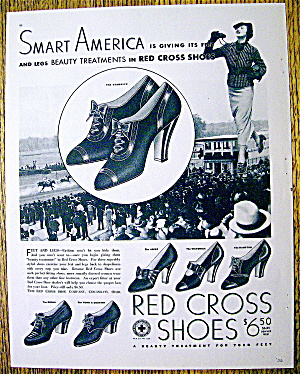 Vintage Ad: 1936 Red Cross Shoes (Image1)