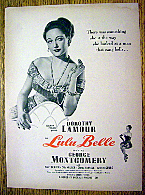 Ad: 1948 Lulu Belle With Dorothy Lamour