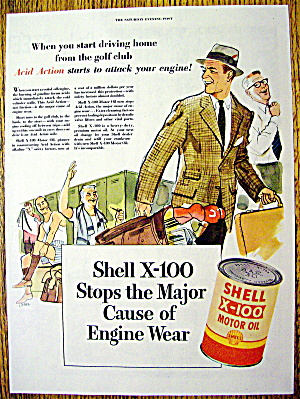 Vintage Ad: 1953 Shell X-100 Motor Oil