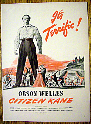 1941 Citizen Kane With Orson Welles