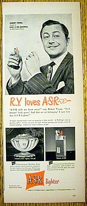 1949 A.s.r. Lighter W/ Robert Young (Father Knows Best)