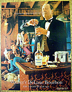 1967 Walker's Deluxe Bourbon W/waiter Mixing Drinks