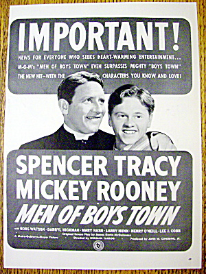 1941 Men Of Boys Town W/ Spencer Tracy & Mickey Rooney