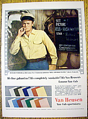 1954 Van Heusen Sport Shirts with Richard Widmark (Image1)