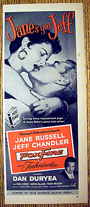 1955 Fox Fire With Jane Russell & Jeff Chandler
