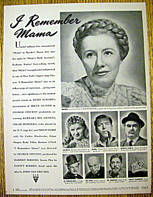 1948 I Remember Mama With Irene Dunne & Edgar Bergen