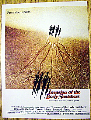 1978 Invasion Of The Body Snatchers W/donald Sutherland