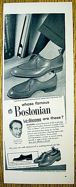 1955 Bostonian Lo-slope Shoes With Victor Borge
